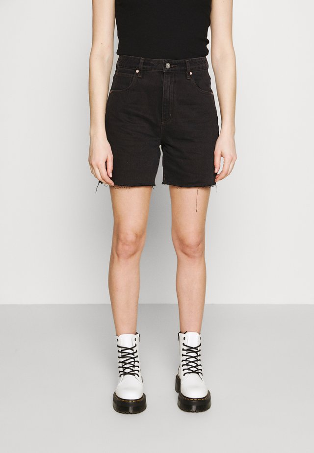 A CLAUDIA CUT OFF - Jeansshorts - black box