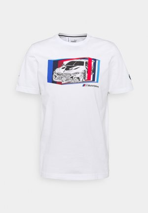 BMW MMS CAR GRAPHIC TEE - Print T-shirt - puma white