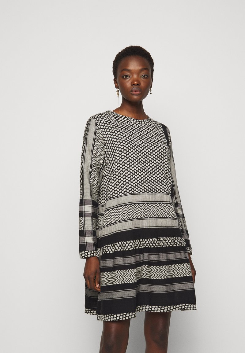 CECILIE copenhagen - DRESS - Vestito estivo - black/stone