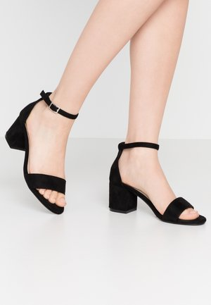 LOW BLOCK  - High heeled sandals - black