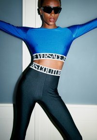 Versace Jeans Couture - PANTS - Leggings - Trousers - black - 3