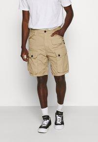 G-Star - JUNGLE CARGO - Shorts - vintage ripstop - sahara - 0