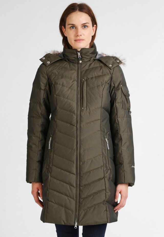 Down coat - dunkles loden