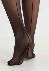 Bluebella - BACK SEAM LEG TOPPED STOCKINGS - Ylipolvensukat - black - 3