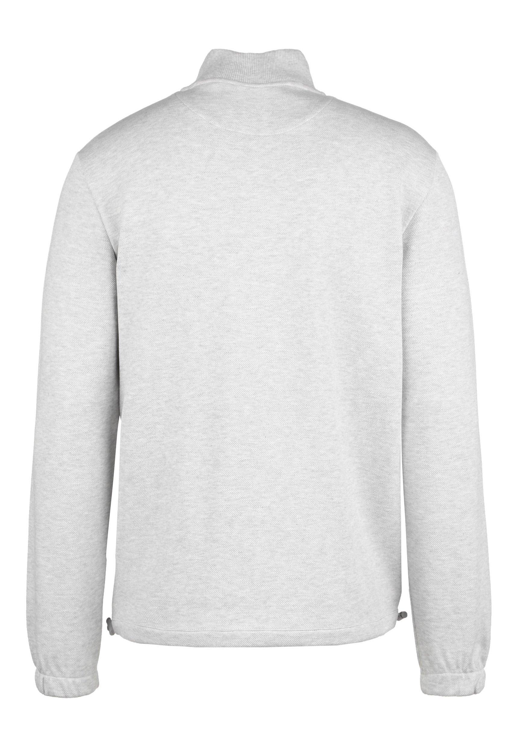 Lyle & Scott PIQUE 1/4 ZIP SWEATSHIRT HERREN - Sweatshirt - light grey marl