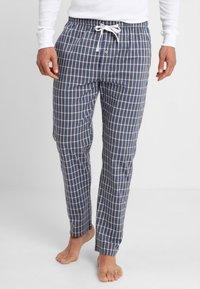 TOM TAILOR - Pyjama bottoms - blue-dark-check - 0