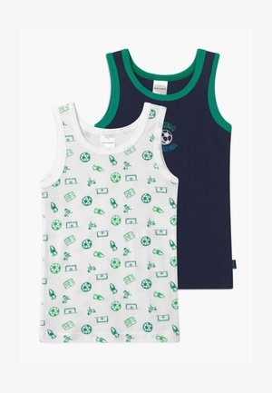 KIDS 2 PACK  - Undershirt - dark blue/white/green