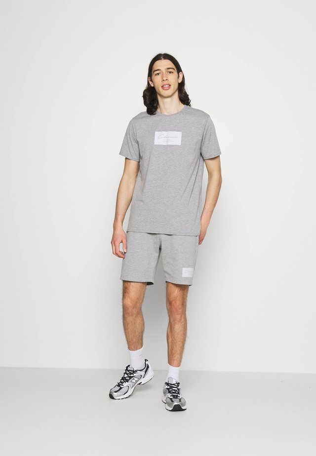 BOX LOGO TWINSET SET - T-shirt con stampa - grey