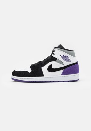 AIR 1 MID SE - Baskets montantes - white/court purple/black/particle grey/hot punch