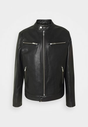 BIKER JACKET - Leather jacket - black