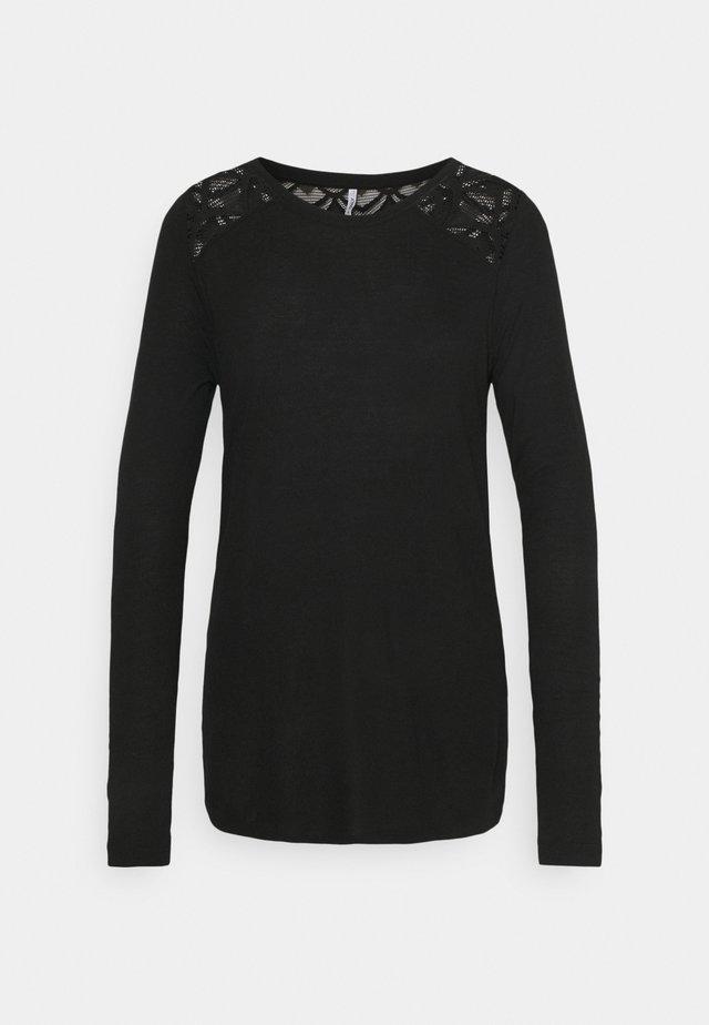 ONLNICOLE LIFE NEW MIX - Maglietta a manica lunga - black