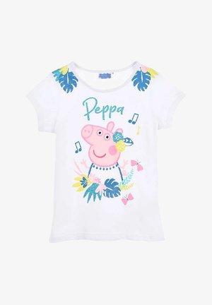 PEPA PIG - Print T-shirt - weiß