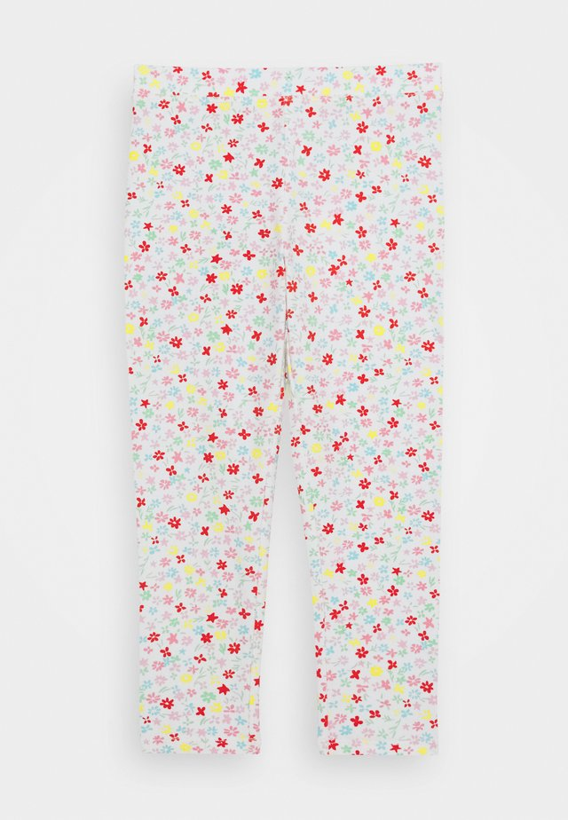 NOVELTY CROPPED - Leggings - ivory/multicolor
