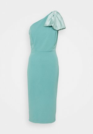 KASSIE BOW DETAIL MIDI DRESS - Vestido ligero - sage green