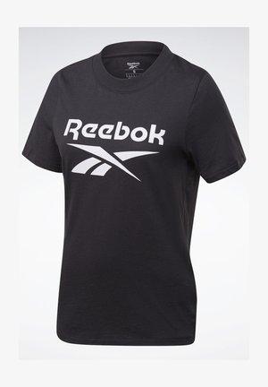 REEBOK IDENTITY LOGO T-SHIRT - Print T-shirt - black