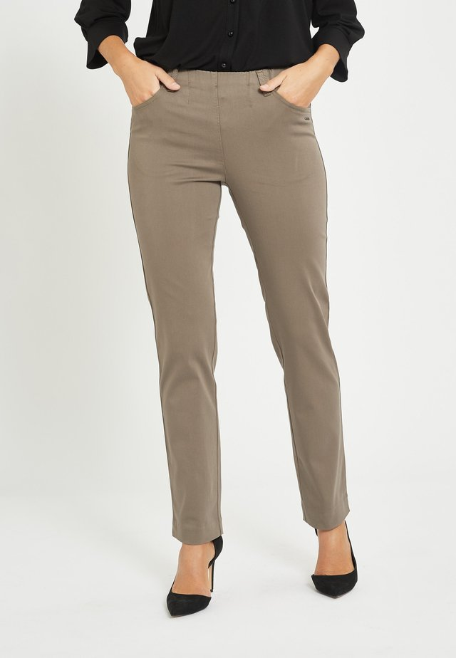 KELLY - Trousers - brown