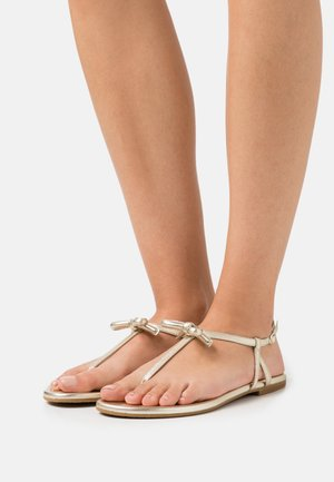 PIAZZA - T-bar sandals - pale gold