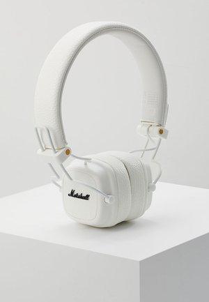 MAJOR III EIN-TASTEN-FERNBEDIENUNG MIT MIKROFON - Headphones - white