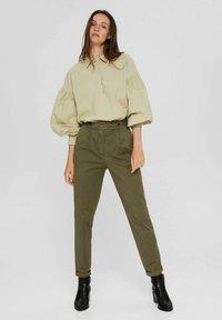 Esprit Collection - Trousers - dark khaki - 1