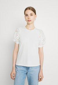 Vila - VIABRO - Basic T-shirt - cloud dancer - 2