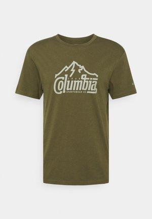 PATH LAKE GRAPHIC TEE - T-shirt print - new olive