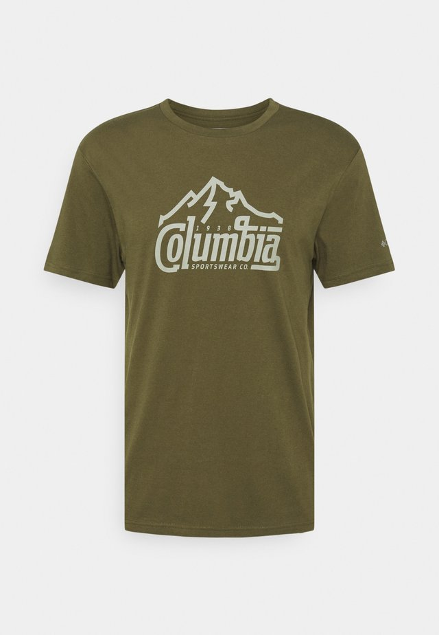 PATH LAKE GRAPHIC TEE - T-shirt imprimé - new olive