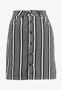 WHY7 - DANI SKIRT STRIPE - Denimová sukně - black/white - 4