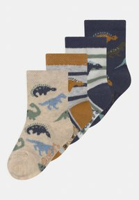Ewers - DINO 4 PACK - Socks - white/blue - 0