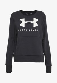 Under Armour - RIVAL FLEECE SPORTSTYLE GRAPHIC CREW - Sudadera - black/onyx white