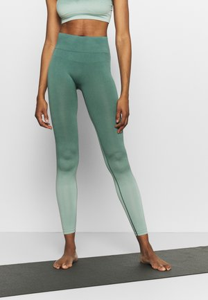 SEAMLESS OMBRE LEGGINGS - Trikoot - blue spruce