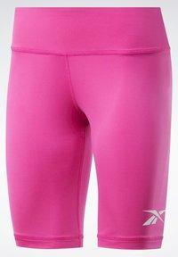Reebok - MEET YOU THERE TRAINING 1/4 - kurze Sporthose - pink - 7