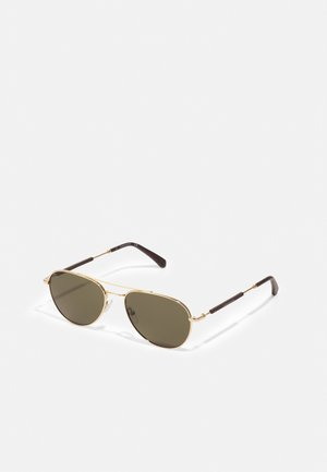 UNISEX - Sunglasses - shiny gold-coloured