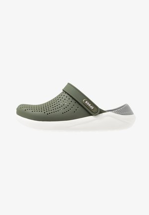 LITERIDE UNISEX - Clogs - army green/white
