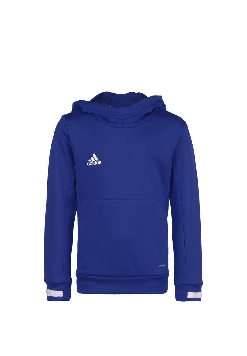 adidas Performance - TEAM 19 KAPUZENPULLOVER KINDER - Hoodie - navy blue / white