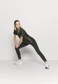 adidas Performance - 3 STRIPE TEE - Sports shirt - khaki - 1