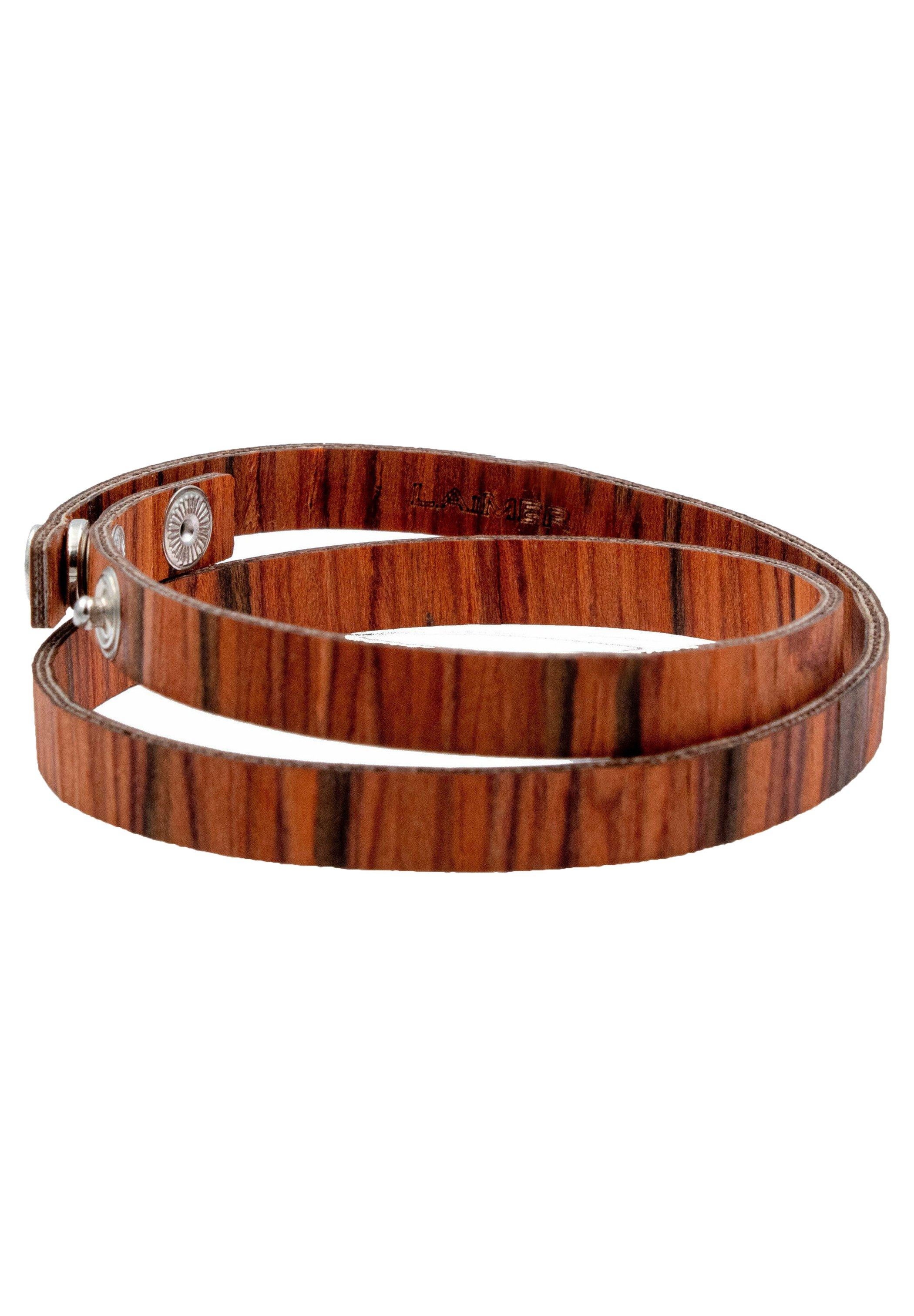 Homme LAIMER WICKEL-ARMBAND AUS ROSENHOLZ - S1112 - Bracelet