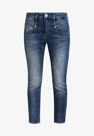 SHYRA CROPPED - Slim fit jeans - dark blue denim