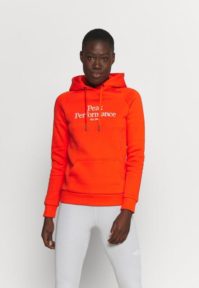 ORIGINAL HOOD - Sweatshirt - super nova