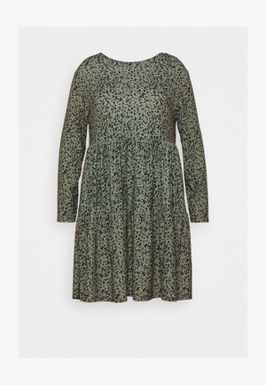 DRESS - Vestito di maglina - khaki