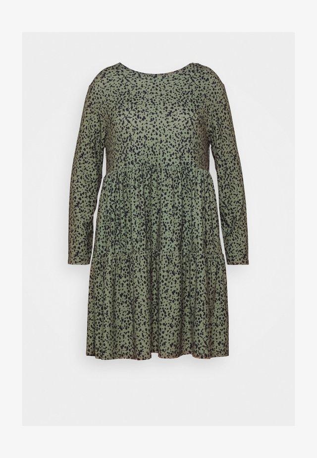 DRESS - Žerzejové šaty - khaki