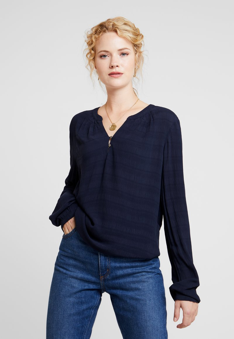 TOM TAILOR - BLOUSE SOLID  - Blůza - sky captain blue