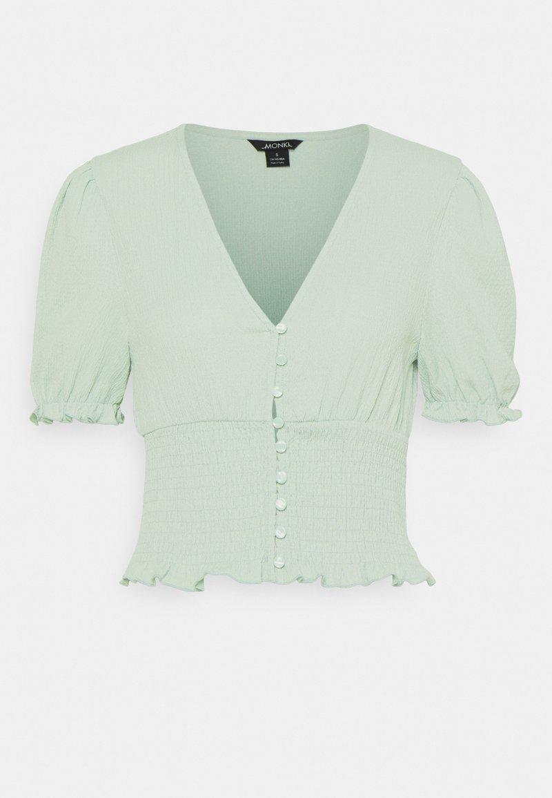Monki - Print T-shirt - green dusty light