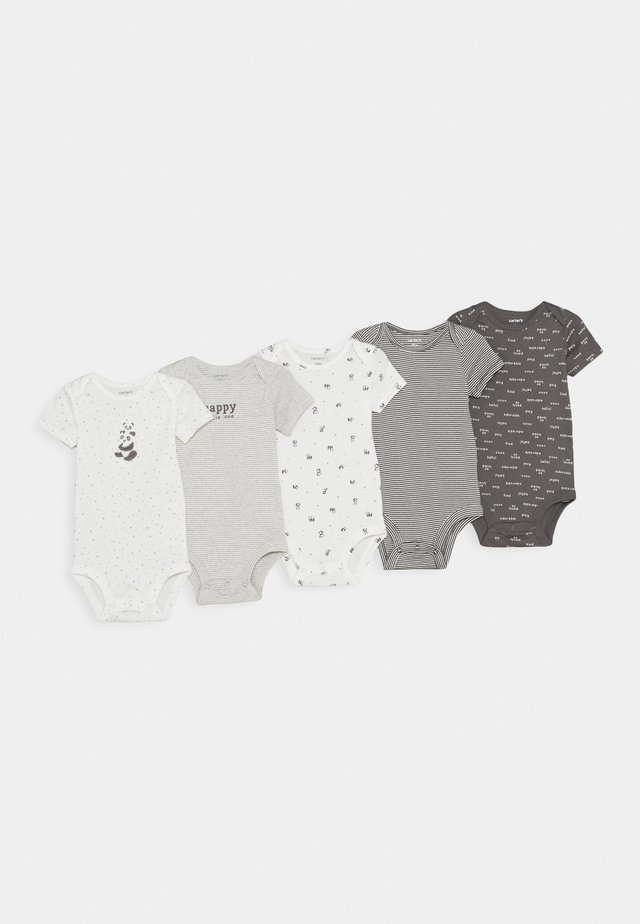 5 PACK UNISEX - Body - grey/offwhite