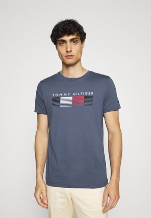 FADE GRAPHIC CORP TEE - Print T-shirt - faded indigo