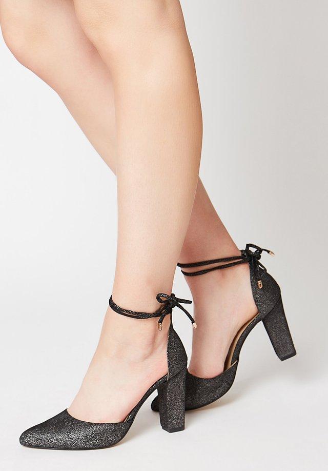 MIT GLITZERPRINT - Classic heels - schwarz