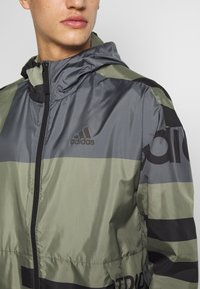 adidas Performance - URBAN ALLOVER PRINT WIND.RDY  - Outdoor jacket - green - 6