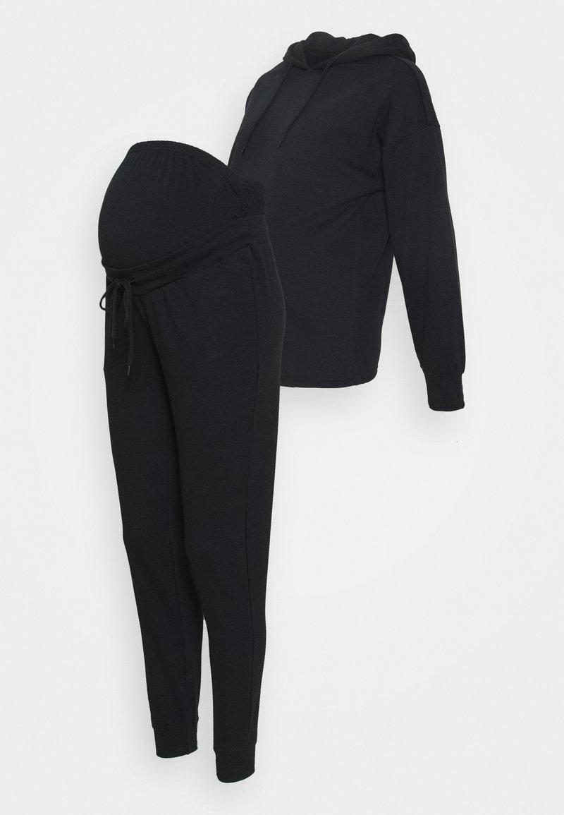 Anna Field MAMA - SET - Jersey con capucha - black