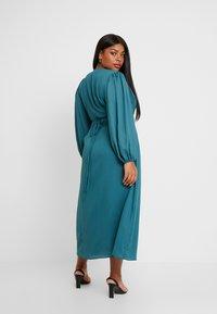 Glamorous Curve - LONG SLEEVE WRAP DRESS - Maxi dress - teal - 3