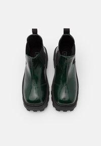 Topshop - KYLIE CHELSEA SQUARE TOE BOOT - Platform ankle boots - bottle green - 5