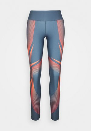 LUX BOLD WARP - Tights - blue